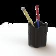 Pencil_stand_2.png Télécharger fichier STL gratuit Support de stylo à bille 3D-Printable • Modèle pour imprimante 3D, S-Design
