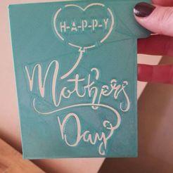 Descargar modelos 3D para imprimir stencil happy mothers day , IDEAS3D