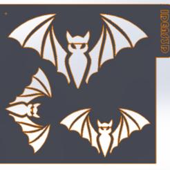 mo.PNG Télécharger fichier STL STENCIL HALLOWEN BATS • Design imprimable en 3D, IDEAS3D