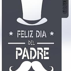 Descargar STL stencil dia del padre, IDEAS3D