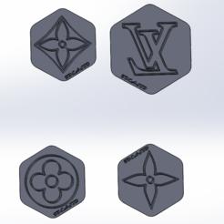 Download STL LOUIS VUITTON CUTTERS, IDEAS3D