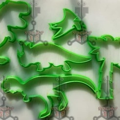 Download 3D printer designs dinosaur cookie cutters, IDEAS3D
