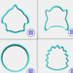 Download STL file moustro cookie cutters with feet, IDEAS3D