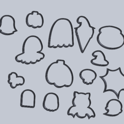 mmuc.PNG Download free STL file mega Halloween cookie cutter set • Template to 3D print, IDEAS3D