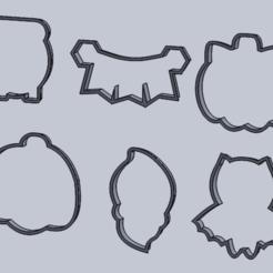 mus.PNG Download STL file halloween boo cutter set • 3D print template, IDEAS3D