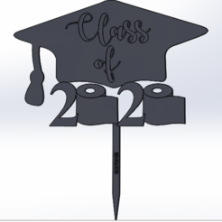topper.PNG Download free STL file cake topper graduation 2020 • 3D printing template, IDEAS3D