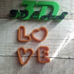 Download free 3D printing templates love cookie cutters, IDEAS3D