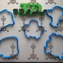 Download 3D printing models friends cookie cutter, IDEAS3D