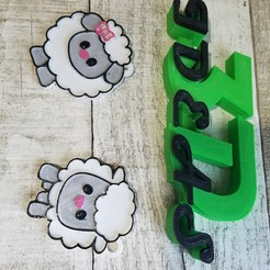 Télécharger objet 3D porte-clés mouton d'abondance, 2020, IDEAS3D