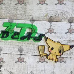 Télécharger fichier 3D porte-clés pikachu, IDEAS3D