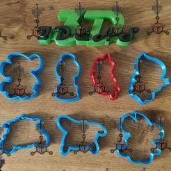 120512728_341267660276954_5038829254132730512_n.jpg Download STL file SET DE CORTADORES DE GALLETA CENICIENTA • 3D printing object, IDEAS3D