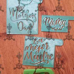 Descargar modelos 3D para imprimir stecils dia de las madres, IDEAS3D