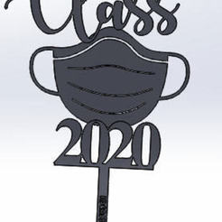 Download 3D printing designs cake topper class of 2020, IDEAS3D