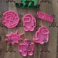 120353086_1425416437849019_3083735354585778501_n.jpg Download STL file cookie cutter set Among us • 3D printing design, IDEAS3D