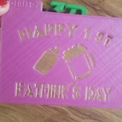 Impresiones 3D stecnil happy 1 st fathers day, IDEAS3D