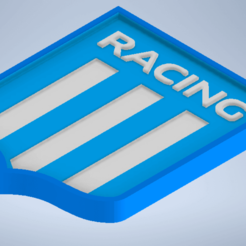 Escudo de racing.png Download STL file Racing Shield and Racing Key Chain • 3D print model, Lucascara24