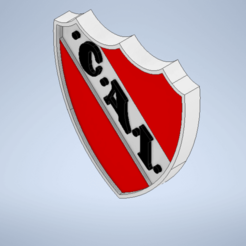 Escudo de independiente.png Download STL file Independent's coat of arms and independent's key ring • 3D printer template, Lucascara24