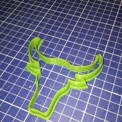 0164994f4e2599b64f41ff5d3e6241e11e2cc98407.jpg Télécharger fichier STL Coupeuse de biscuits en forme de tête de taureau • Design à imprimer en 3D, MagicStar3D