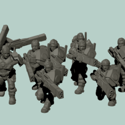 122168325_989212304879532_4077064847727354630_n.png Download STL file Space communist human auxiliary Rifle infantry squad • 3D printer template, davidmckenzieart