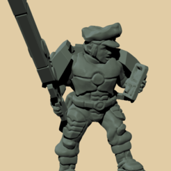 fireblade female.png Download free STL file Infantry officer for human auxiliaries to the space communists. • 3D print design, davidmckenzieart