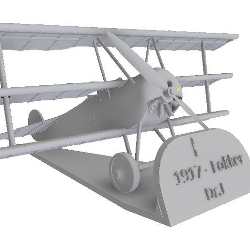 """Download STL file """"Red Baron"""" Fokker DR 1 Scales 1/48 and 1/72 • Design to 3D print, sebastianhoffmannm"""