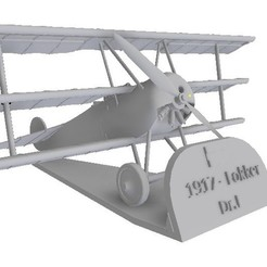 "Download 3D printer designs ""Red Baron"" Fokker DR 1 Scales 1/48 and 1/72, sebastianhoffmannm"