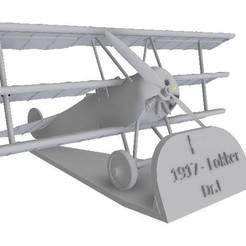 """Télécharger plan imprimante 3D """"Red Baron"""" Fokker DR 1 Échelles 1/48 et 1/72, sebastianhoffmannm"""