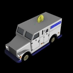 6.jpg Download STL file Brinks truck range • Object to 3D print, sebastianhoffmannm