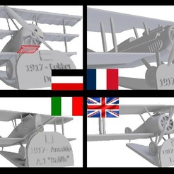 Download 3D model Pack offer 4x3 - World War I Aircraft, sebastianhoffmannm