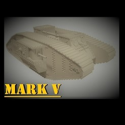"Download 3D printer designs Mark V ""Male"" Tank - 1/48 and 1/72 scale, sebastianhoffmannm"