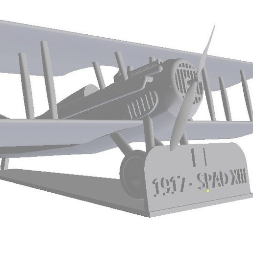Download 3D print files Aircraft Spad XIII Based on 1/48 and 1/72 scales, sebastianhoffmannm