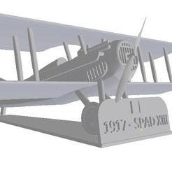 Download STL file Aircraft Spad XIII Based on 1/48 and 1/72 scales • Template to 3D print, sebastianhoffmannm