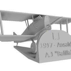 "Download 3D printer designs Ansaldo A.1 ""Bolilla"", sebastianhoffmannm"