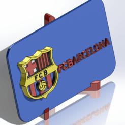 Descargar diseños 3D Placa escudo del FC Barcelona, dakar_17