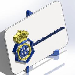 Descargar STL Placa escudo del Real Club recreativo de Huelva, dakar_17