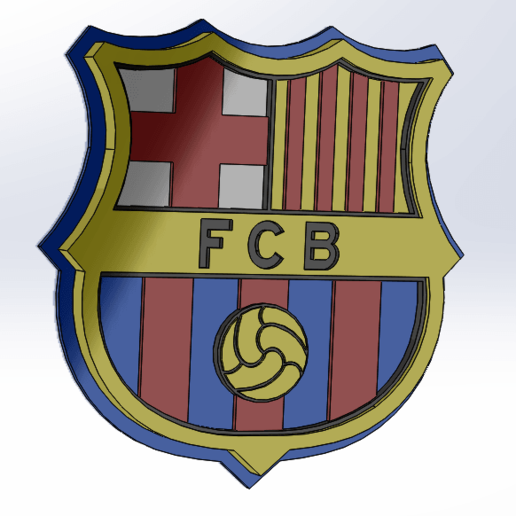 download stl file fc barcelona shield plate 3d printable model cults fc barcelona shield plate