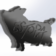 Download free 3D model ESTOPA pig, dakar_17