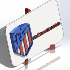 Imprimir en 3D Placa escudo del Atl. de Madrid, dakar_17