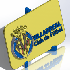 Descargar modelos 3D para imprimir Placa escudo del Villarreal CF, dakar_17