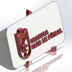 Descargar archivos STL Placa escudo del Granada CF, dakar_17