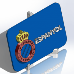 Descargar diseños 3D Placa escudo del RCD Espanyol, dakar_17