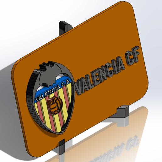 Placa escudo del Valencia CF