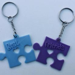 LLavero Best Friends.jpg Download STL file Best Friends Keychain • Design to 3D print, ivandetitto