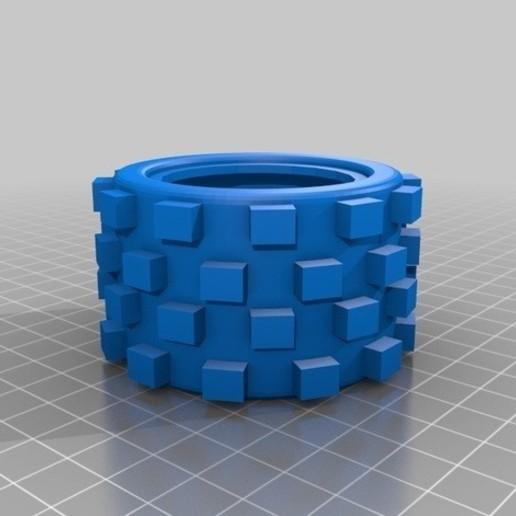Download 3D printer files Wheel RC Car 70x46x40 Off Road Rubber Auto RC, lucaspc82