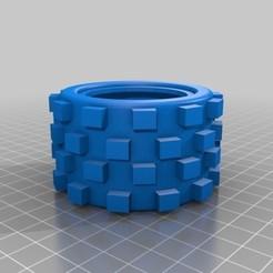 Imprimir en 3D Wheel RC Car 70x46x40 Off Road Goma Auto RC, lucaspc82