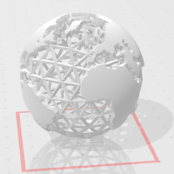 Download free 3D printing designs Earth Globe, chernyavskayasve