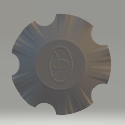Download free 3D printer designs car wheel tayota 3D model, chernyavskayasve