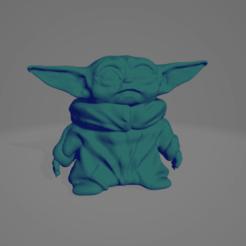 Télécharger fichier imprimante 3D gratuit Bébé Yoda, chernyavskayasve