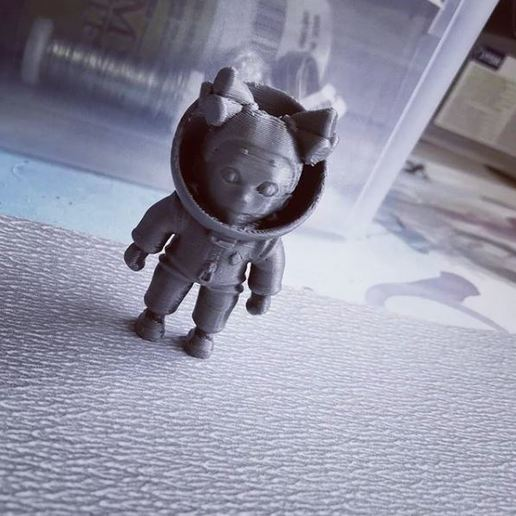 Download free 3D printer designs Little astronaut, Dahaka