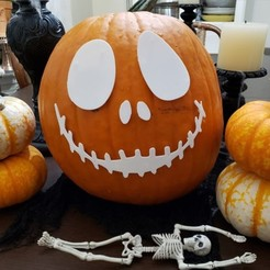 Download free 3D printing files Halloween Pumpkin Decor - Jack Skellington, jazzhands